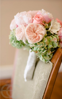 garden rose hydrangea bouquet - Garden Rose And Hydrangea Bouquet