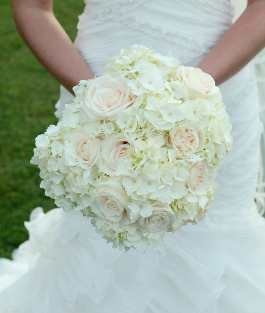 hydrangea bouquet with rose accents - Garden Rose And Hydrangea Bouquet